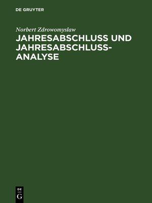 cover image of Jahresabschluss und Jahresabschlussanalyse