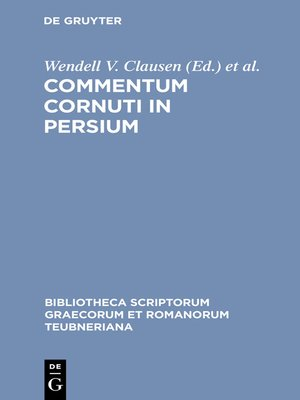 cover image of Commentum Cornuti in Persium