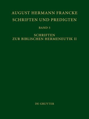 cover image of Schriften zur Biblischen Hermeneutik II