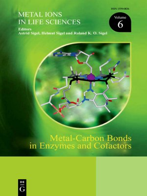 cover image of Metal-Carbon Bonds in Enzymes and Cofactors