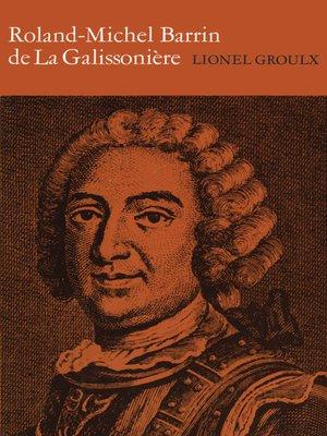 cover image of Roland-Michel Barrin de La Galissoniere 1693-1756