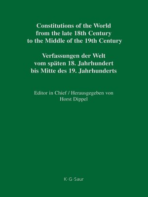 cover image of Constitutional Documents of Austria, Hungary and Liechtenstein 1791–1849