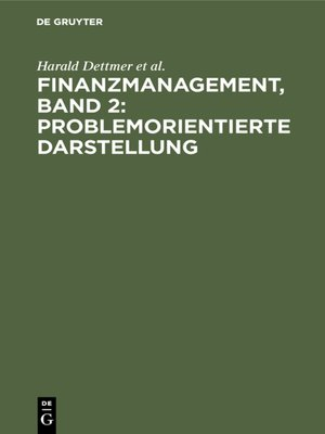 cover image of Finanzmanagement, Band 2