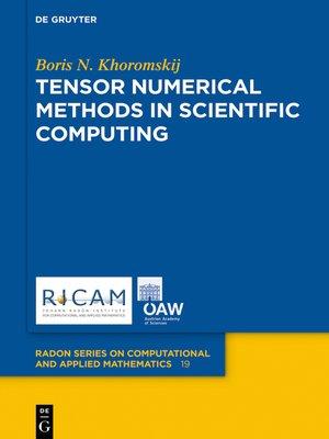 cover image of Tensor Numerical Methods in Scientific Computing