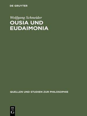 cover image of Ousia und Eudaimonia