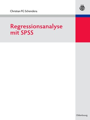 cover image of Regressionsanalyse mit SPSS