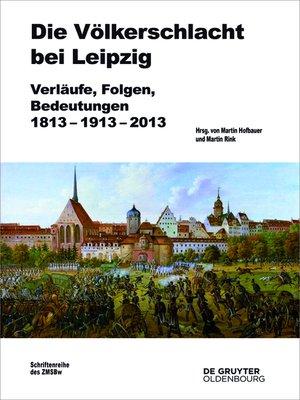 cover image of Die Völkerschlacht bei Leipzig