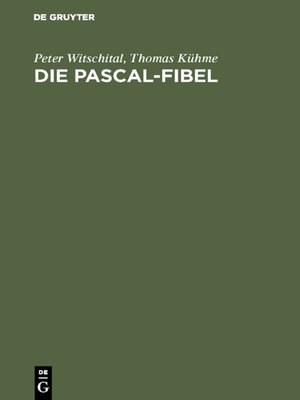 cover image of Die PASCAL-Fibel