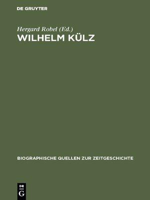 cover image of Wilhelm Külz
