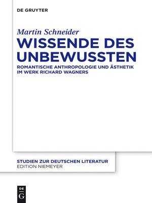 cover image of Wissende des Unbewussten