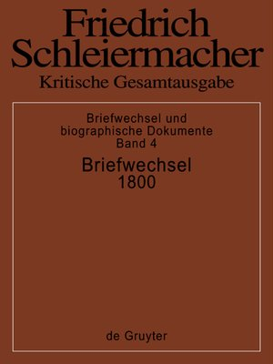 cover image of Briefwechsel 1800