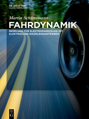cover image of Fahrdynamik