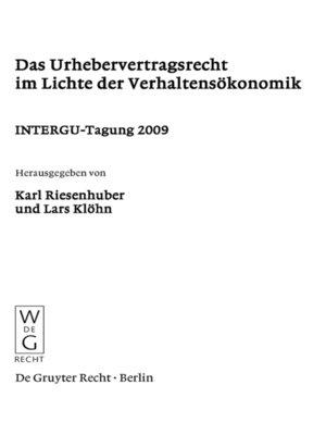 cover image of Das Urhebervertragsrecht im Lichte der Verhaltensökonomik
