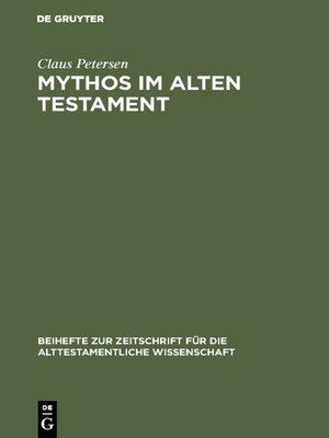 cover image of Mythos im Alten Testament