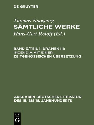 cover image of Dramen III