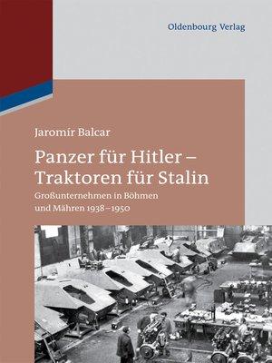cover image of Panzer für Hitler – Traktoren für Stalin
