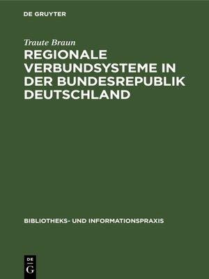 cover image of Regionale Verbundsysteme in der Bundesrepublik Deutschland