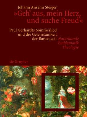 """cover image of """"Geh' aus, mein Herz, und suche Freud'"""""""