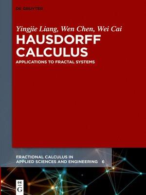 cover image of Hausdorff Calculus