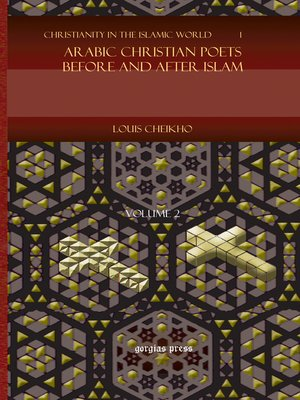 cover image of Arabic Christian Poets Before and After Islam