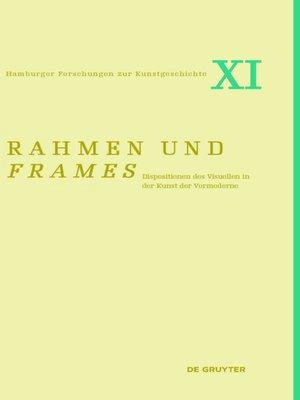 cover image of Rahmen und frames