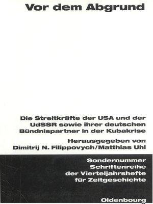 cover image of Vor dem Abgrund