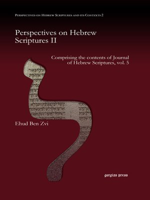 cover image of Perspectives on Hebrew Scriptures II