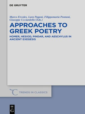 cover image of Approaches to Greek Poetry