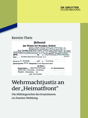 """cover image of Wehrmachtjustiz an der """"Heimatfront"""""""