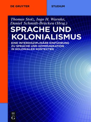 cover image of Sprache und Kolonialismus