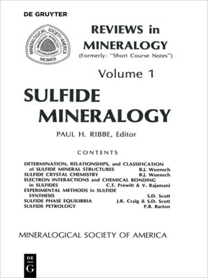 cover image of Sulfide Mineralogy