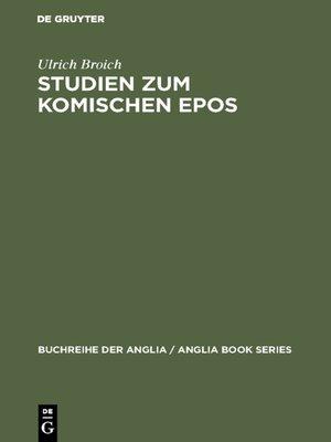 cover image of Studien zum komischen Epos