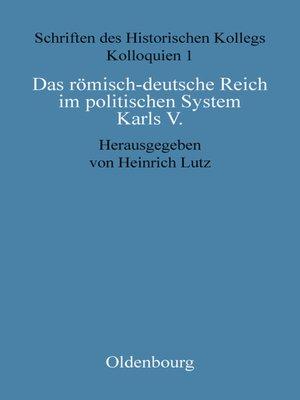 cover image of Das römisch-deutsche Reich im politischen System Karls V.