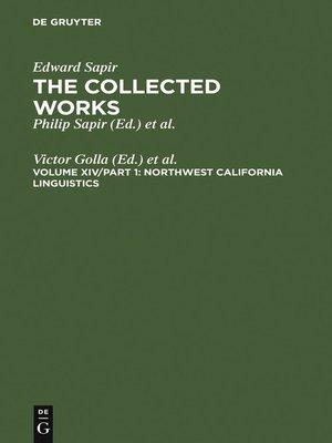 cover image of Northwest California Linguistics