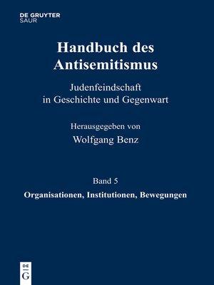 cover image of Organisationen, Institutionen, Bewegungen