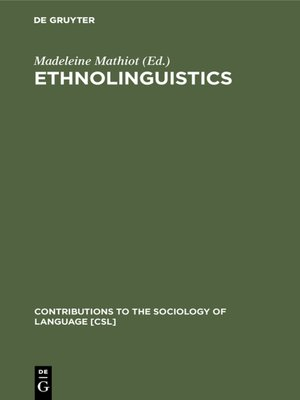 cover image of Ethnolinguistics