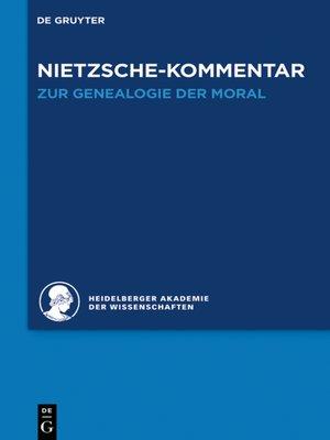 """cover image of Kommentar zu Nietzsches """"Zur Genealogie der Moral"""""""
