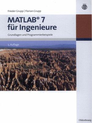 cover image of MATLAB 7 für Ingenieure