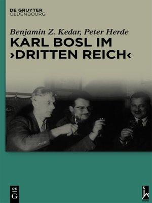 """cover image of Karl Bosl im """"Dritten Reich"""""""