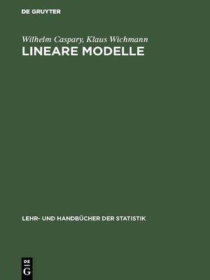 cover image of Lineare Modelle