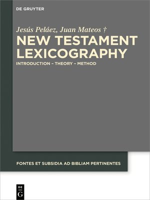 cover image of New Testament Lexicography