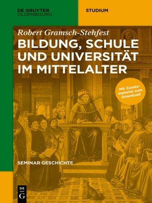 cover image of Bildung, Schule und Universität im Mittelalter