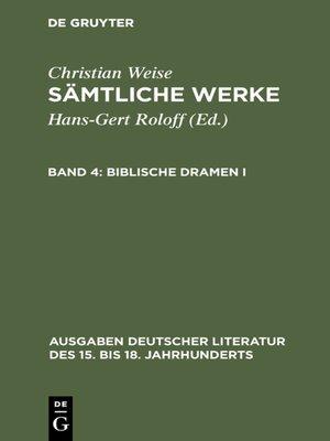 cover image of Biblische Dramen I