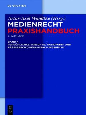 cover image of Rundfunk- und Presserecht/Veranstaltungsrecht/Schutz von Persönlichkeitsrechten