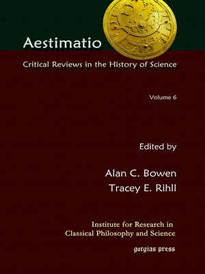 cover image of Critical Reviews in the History of Science (Volume 6)