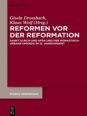 cover image of Reformen vor der Reformation