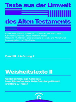 cover image of Weisheitstexte II