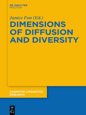 cover image of Dimensions of Diffusion and Diversity