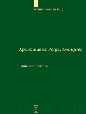 cover image of Livre IV. Commentaire historique et mathématique, édition et traduction du texte arabe