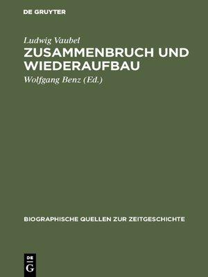 cover image of Zusammenbruch und Wiederaufbau